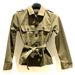 Army green Cotton spring summer jacket